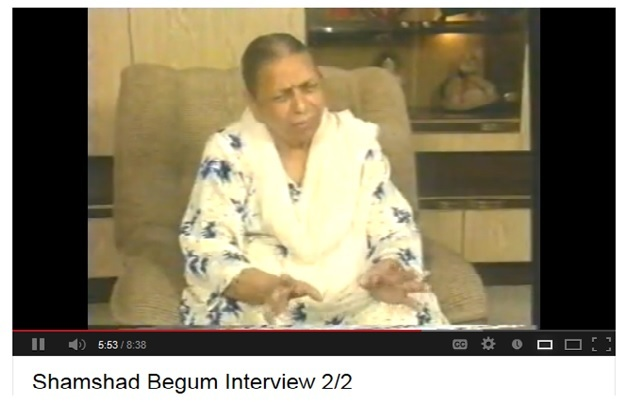 SHAMSHAD BEGUM'S INTERVIEW - pic