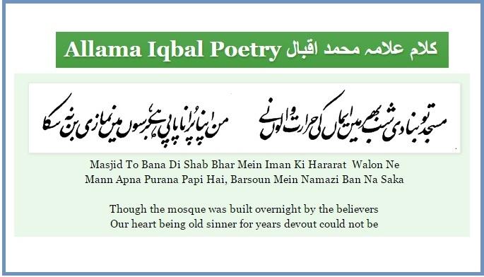 Couplet in Urdu-frame
